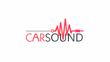 CARSOUND -логотип созданный для сервиса авто звука