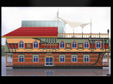 Дизайн фасада жилого дома на воде