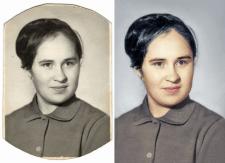 Реставрация и раскраска старой фотографии.