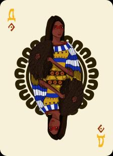 Spielkarten Indians- Farbig2