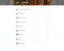 Мобильное меню для сети ресторанов в Лондоне