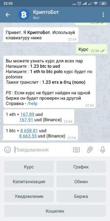 Telegram КриптоБот