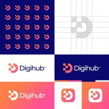 Digital D Letter Logo