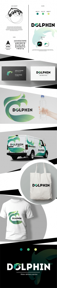"Логотип для доставки воды ""Dolphin"""
