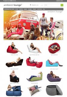 Сайт по продаже бескаркасной мебели Ambient Lounge