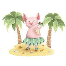 Как свинка проводит время на Гавайях