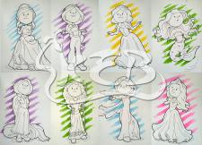 Иллюстрация_цвет_Принцессы_Дисней_мой стиль