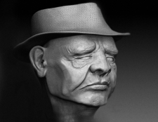 3D модель старый человек