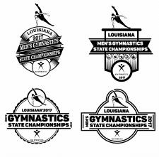 серия лого для спортивных событий. Гимнастика. М.
