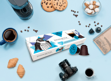 Got Shot Innocence Coffee Capsules Box Design