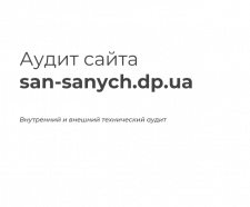SEO-аудит san-sanych.dp.ua