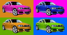 смена цвета объекта; фона