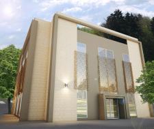 Визуализация фасада общежития