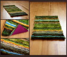 Прикроватный полосатый коврик