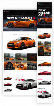 Nissan GT-R Promo page