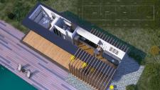 Эскиз и 3д-модель небольшого дома