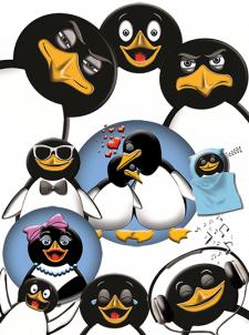 Наюбор стикеров для  для iMessage Пингвины
