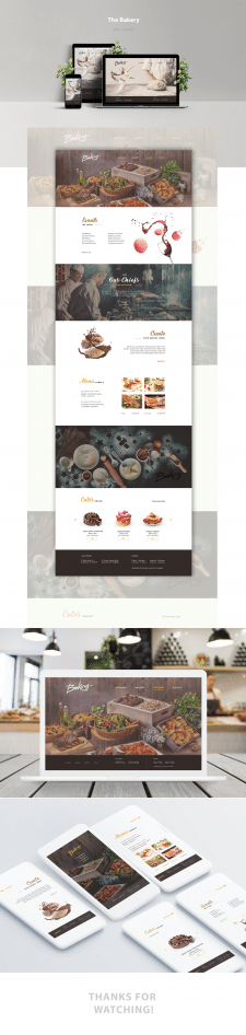 Дизайн лендинга для пекарни - The bakery