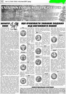 Розважальна сторінка газети
