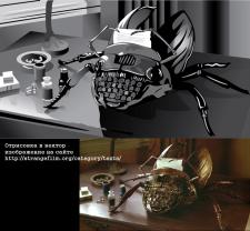 жук-печатная машинка