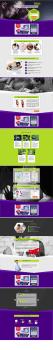 Дизайн одностраничного сайта под верстку
