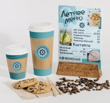 Дизайн меню и наклеек для кофейни