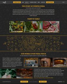 Pompei Pizza website design