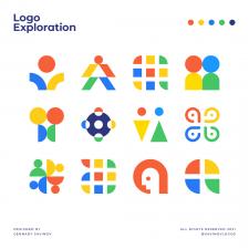 Human A Logo Exploration