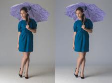 Замена цвета и разглаживание одежды