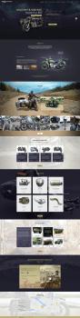 Веб-дизайн сайта для продажи мотоциклов