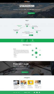 Дизайн главной страницы SEO-агентства