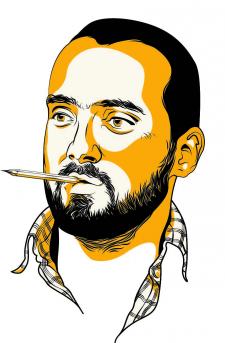 Векторный портрет художника