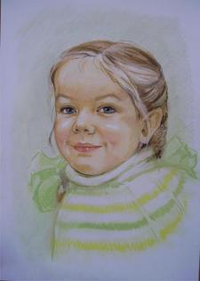 Портрет по фото,пастель