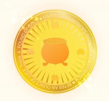 Монета к Дню св. Патрика