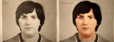 цветное лицо из старой фотографии