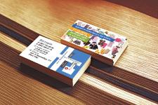Дизайн визитки магазина детских вещей