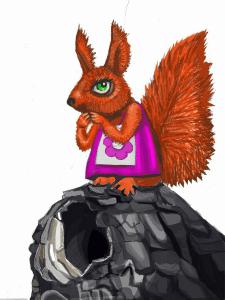 Белочка (иллюстрация к детской книжке)