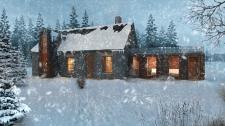 Architecture visualization of  winterhouse