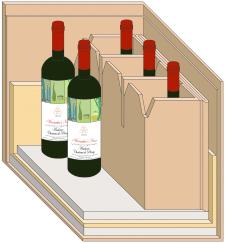 Срез упаковки для вина
