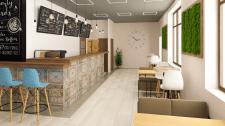 Дизайн интерьера кафе, г. Киев.