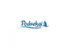 "Логотип рыболовного интернет-магазина ""Podsekai"""
