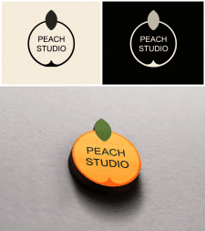 "Логотип арт студии ""Peach"""