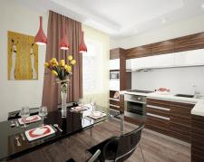 Дизайн кухни 8м2 Сон об Африке