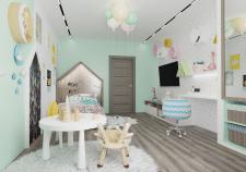 Дизайн детской комнаты 22 м2
