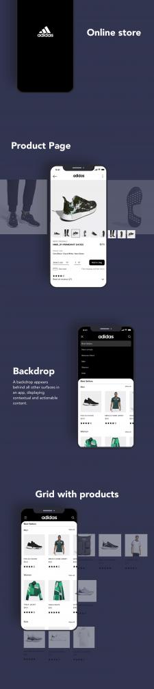 Adidas app (online store) full on behance