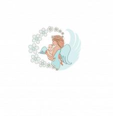 Иллюстрация на тему матери и ребенка