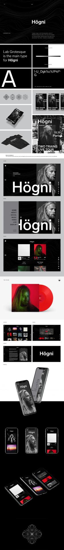Дизайн сайта для исландского музыканта Högni