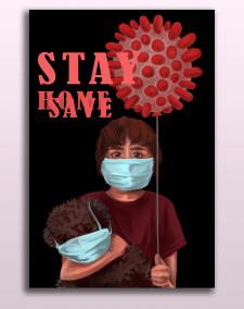 Социальный плакат на тему covid