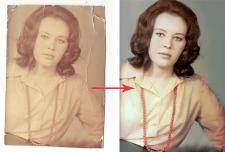 Ретушь и цветокоррекция старой фотографии