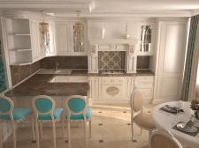 Дизайн гостинная+кухня